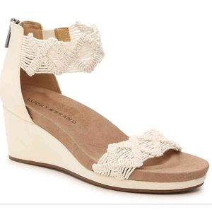 Lucky Brand Kaydyn wedge shoes size 7.5